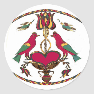 Pennsylvania Birds Hex Sign Classic Round Sticker