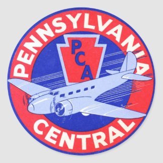 Pennsylvania Central Airlines Round Sticker