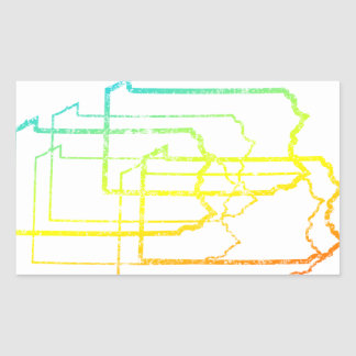 pennsylvania chill blur rectangular sticker