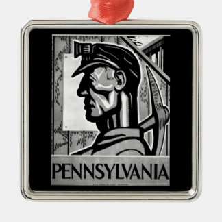 Pennsylvania Coal Poster WPA 1938 Christmas Ornament