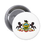Pennsylvania coat of arms 6 cm round badge