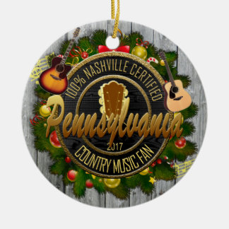 Pennsylvania Country Music Fan Christmas Ornament