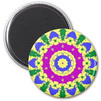 Pennsylvania Dutch Hex Sign Spring Green and Blue Magnet