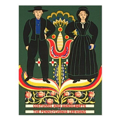 Pennsylvania Dutch Postcard