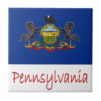 Pennsylvania Flag And Name Tile