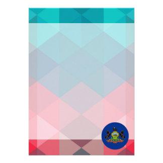 Pennsylvania flag circle on modern bokeh 13 cm x 18 cm invitation card