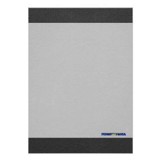 Pennsylvania flag font 13 cm x 18 cm invitation card