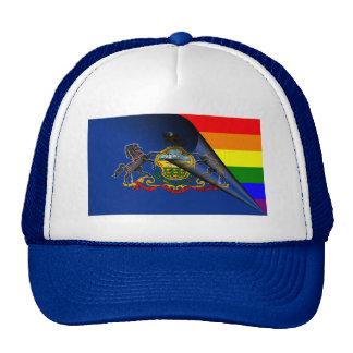 Pennsylvania Flag Gay Pride Rainbow Cap