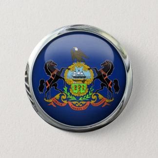 Pennsylvania Flag Glass Ball 6 Cm Round Badge