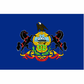 Pennsylvania Flag Magnet Cut Out