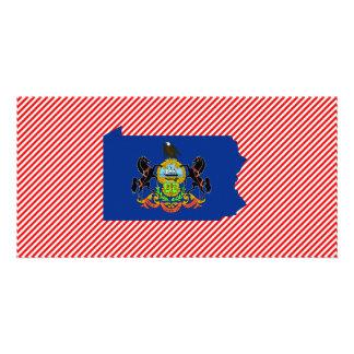 Pennsylvania Flag Map Card