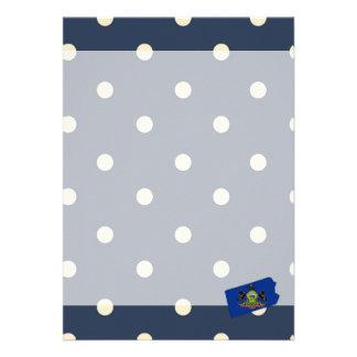 Pennsylvania Flag Map on Polka Dots 13 Cm X 18 Cm Invitation Card