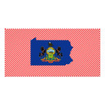Pennsylvania Flag Map Picture Card