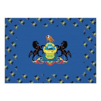 PENNSYLVANIA Flag Pattern Cards