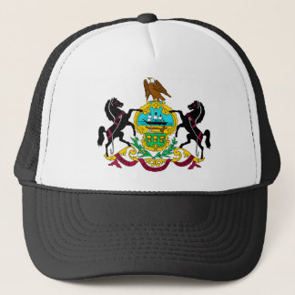 Pennsylvania Flag Theme 00 Trucker Hat