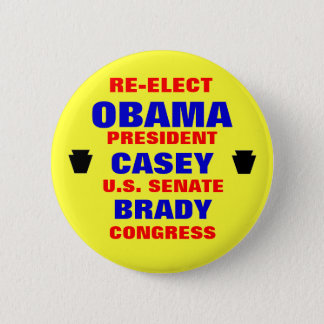 Pennsylvania for Obama Casey Brady 6 Cm Round Badge