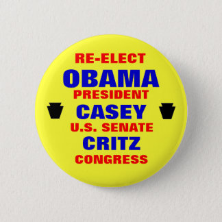 Pennsylvania for Obama Casey Critz 6 Cm Round Badge