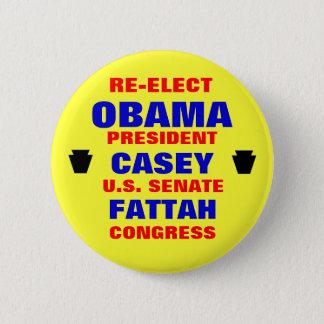 Pennsylvania for Obama Casey Fattah 6 Cm Round Badge