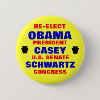 Pennsylvania for Obama Casey Schwartz 6 Cm Round Badge