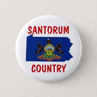 Pennsylvania for Santorum 6 Cm Round Badge