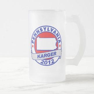 Pennsylvania Fred Karger 16 Oz Frosted Glass Beer Mug