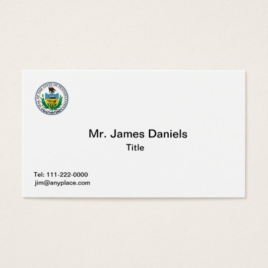 Pennsylvania Great Seal Business Card Templates
