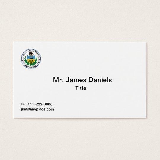 Pennsylvania Great Seal Business Card Templates