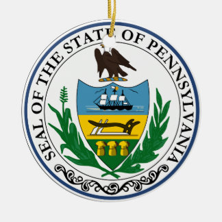 Pennsylvania Great Seal Christmas Ornament