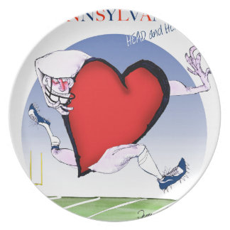 pennsylvania head heart, tony fernandes party plate