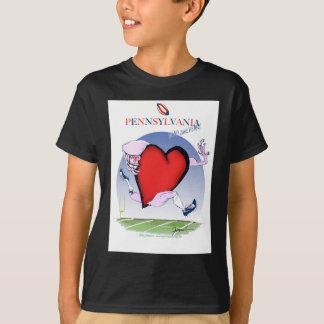 pennsylvania head heart, tony fernandes T-Shirt