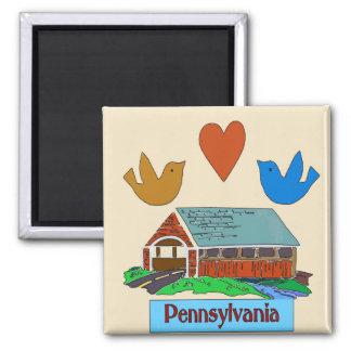 Pennsylvania Heart Bird Colonial Covered bridge Magnets