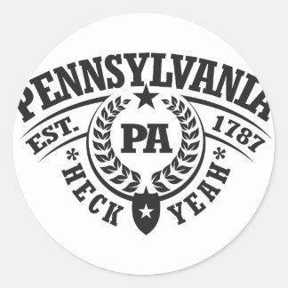 Pennsylvania, Heck Yeah, Est. 1787 Round Sticker