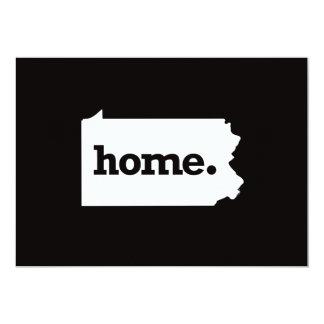 Pennsylvania Home 13 Cm X 18 Cm Invitation Card