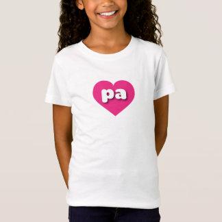 Pennsylvania hot pink heart - mini love T-Shirt