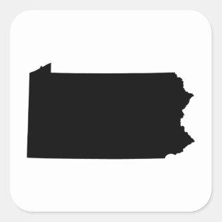 Pennsylvania in Black and White Square Sticker