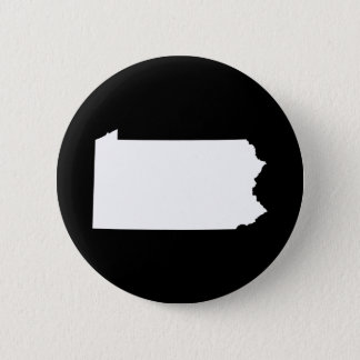 Pennsylvania in White and Black 6 Cm Round Badge