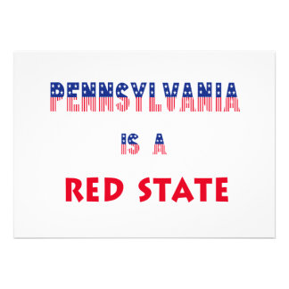 Pennsylvania is a Red State Custom Invites