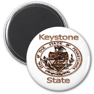 Pennsylvania Keystone State Seal 6 Cm Round Magnet