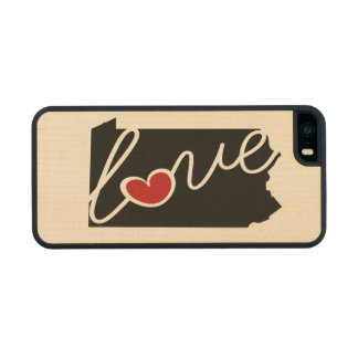 Pennsylvania Love!  Gifts for PA Lovers Carved® Maple iPhone 5 Slim Case