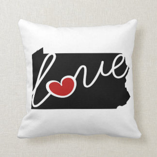 Pennsylvania Love!  Gifts for PA Lovers Pillow