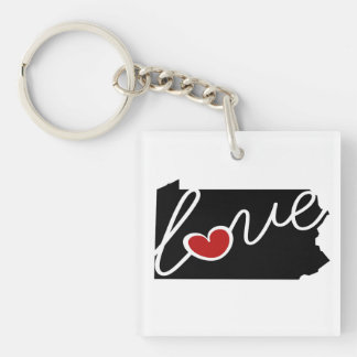 Pennsylvania Love!  Gifts for PA Lovers Keychain