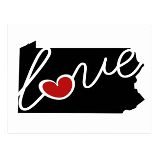 Pennsylvania Love!  Gifts for PA Lovers Postcard