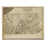 Pennsylvania Map by Arrowsmith Poster