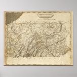 Pennsylvania Map by Arrowsmith Poster