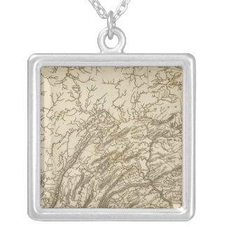 Pennsylvania Map by Arrowsmith Silver Plated Necklace