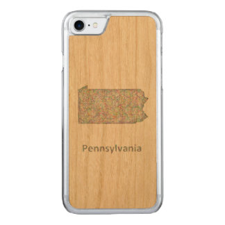 Pennsylvania map carved iPhone 8/7 case