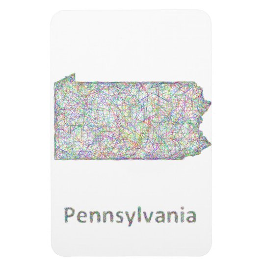 Pennsylvania map magnet