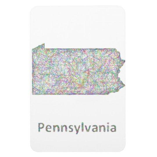 Pennsylvania map rectangular photo magnet