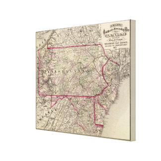 Pennsylvania, Maryland, New Jersey, Delaware Canvas Print