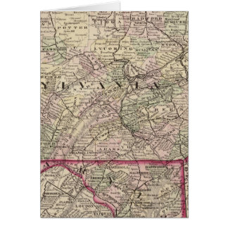 Pennsylvania, Maryland, New Jersey, Delaware Card